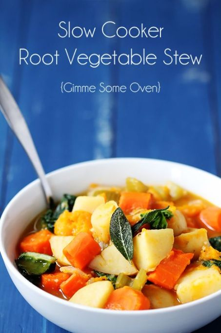 Slow Cooker Root Vegetable Stew. Perfect for the cold nights!: