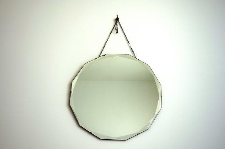 Antique Art Deco Dodecagon Mirror