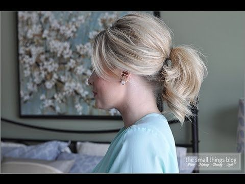 The Fancy Ponytail – LOVE it – thank you Kate from The Small Things