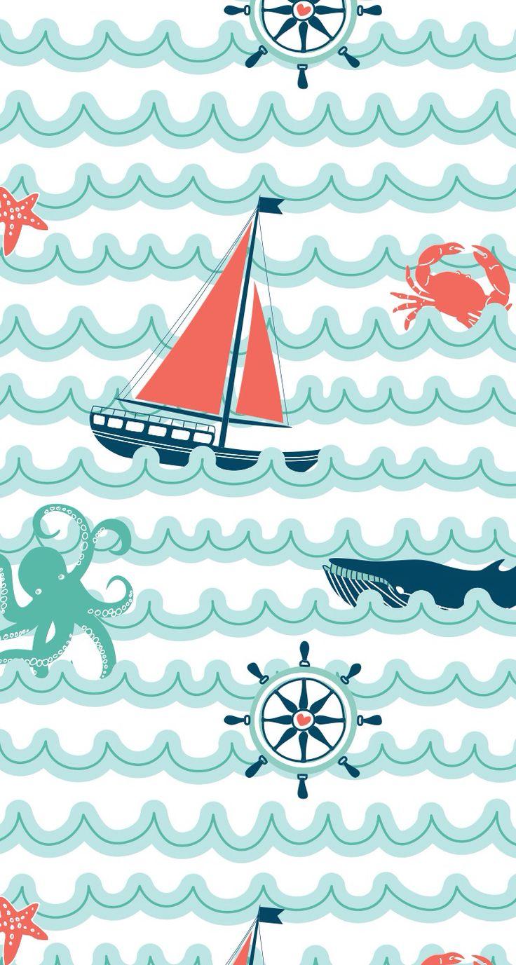 25 Best Ideas About Nautical Wallpaper On Pinterest