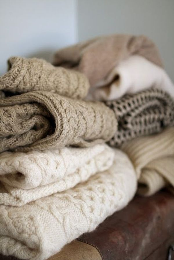 Comforting as a big pile of warm sweaters. #softestthings #comfythings #favoritethings