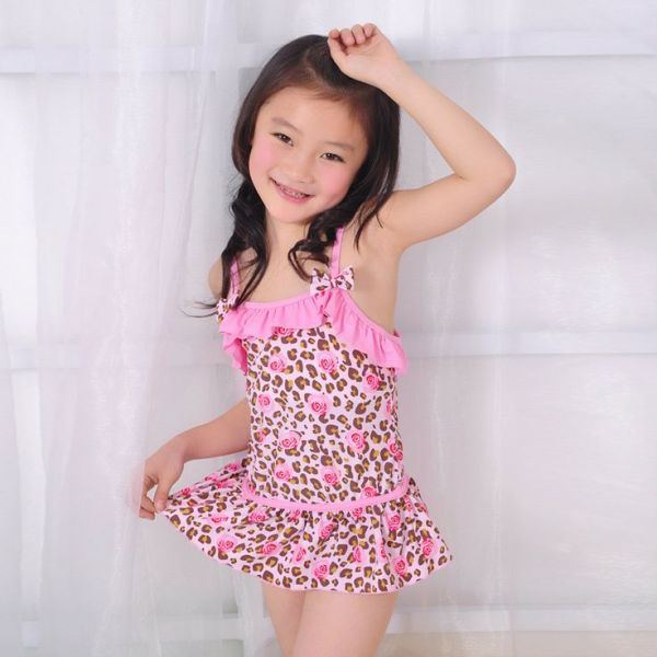 Pink One Piece Children Swimwear Girls Swimwear Baby ...