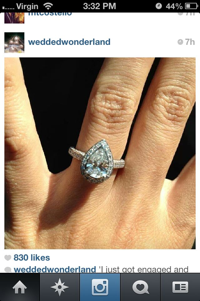 Tear Dropalmond Shape Ring Engagement Rings Amp Wedding