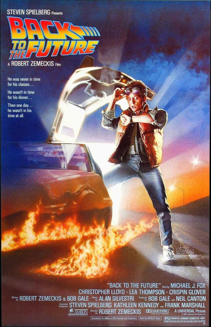 1985 – Back to the Future – A teenager is accidentally sent 30 years into the past in a time-traveling DeLorean invented by his