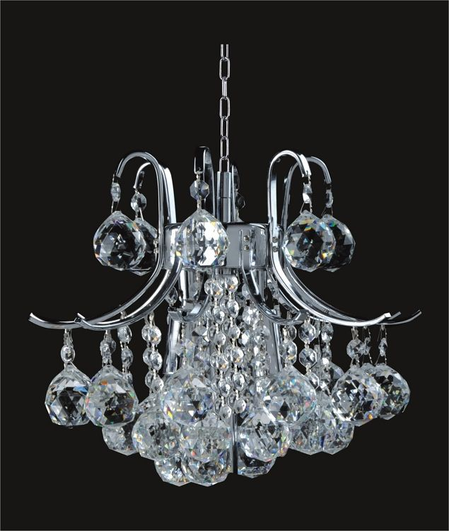 Gold Or Chrome Mini Chandelier With European Swarovski Spectra Crystal Strands