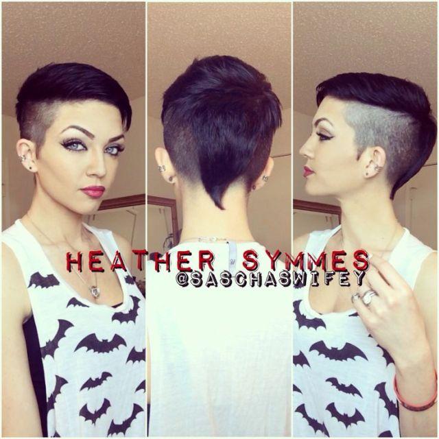 Mohawk pixie undercut comb over Desired looks