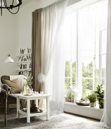 Layer A Sheer Set Of Curtains And A Heavier Set So You Can Use One To Let In Light And The