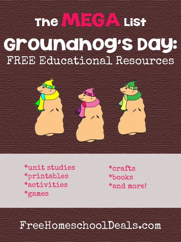 Groundhog's Day: MEGA List of FREE Educational Resources ...