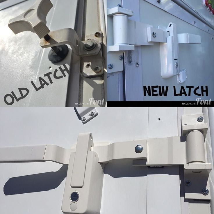 Cargo Style Latch On Our Hybrid Travel Trailer This