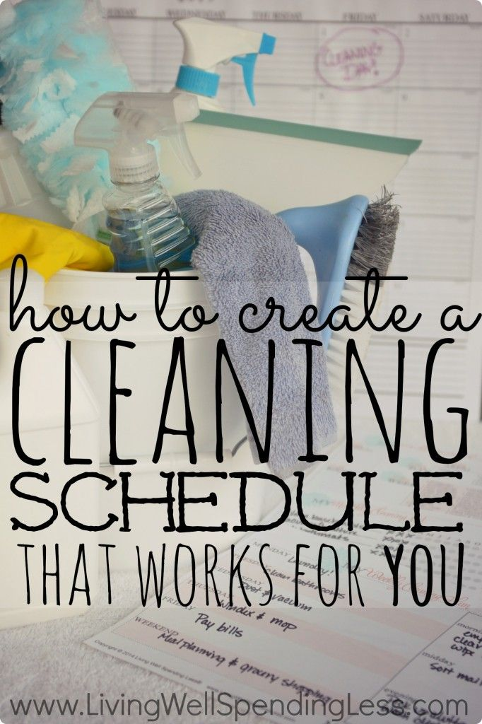 How to Create a Cleaning Sc