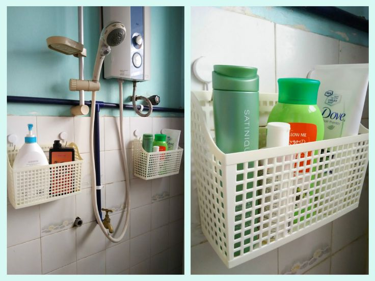 shower caddies made from command hooks and baskets from daiso organizing pinterest on kitchen organization japanese id=71758