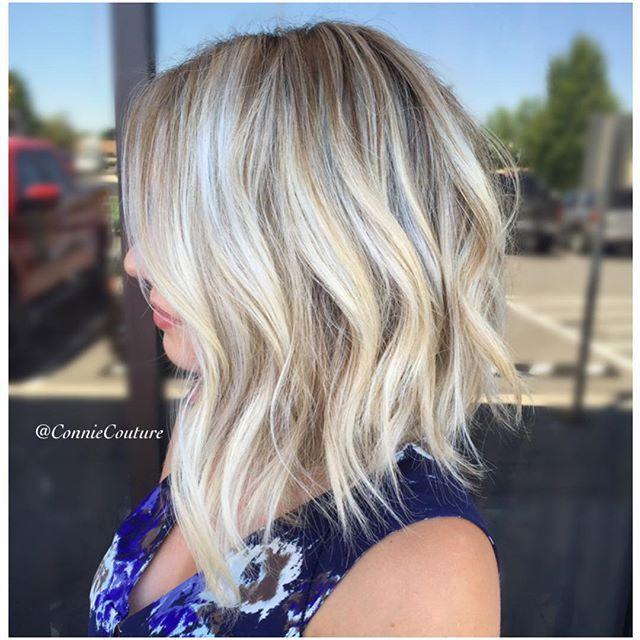 Rooty Blonde Lob Pinterest
