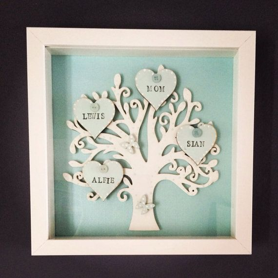 Box Framed Family Tree By PerfectParcels1 On Etsy DIY
