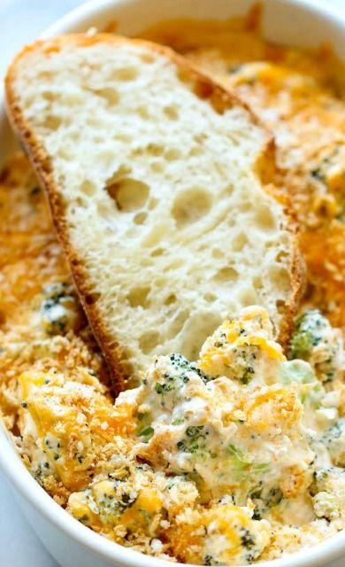Baked Broccoli Parmesan Dip