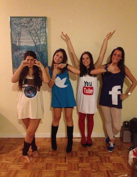 Social Media Apps - yay group halloween costume idea? @Leslie Lippi Lippi Lippi Lippi  sc 1 st  HonorsGradU & 5 Creative Group Halloween Costumes u2013 HonorsGradU