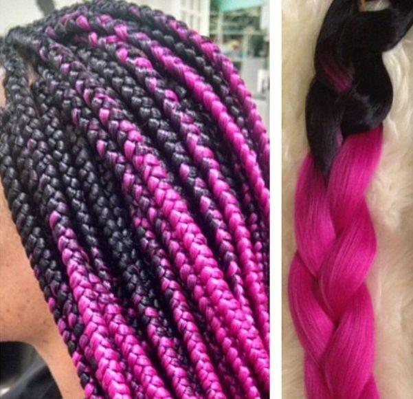 Hot Pink Ombre Braiding Hair Jumbo Braiding Hair Want