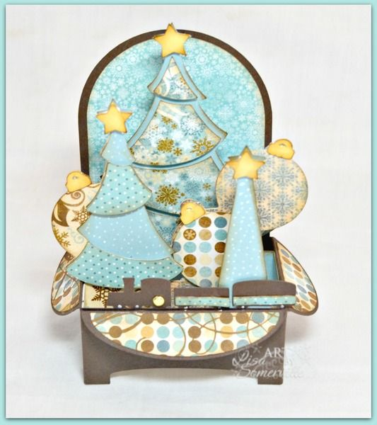 1000 Images About Cards Christmas Pop Up On Pinterest