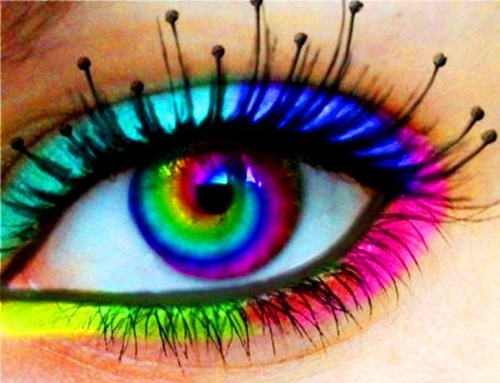 Rainbow Color Contact Lens De Larc En Ciel Rainbow Colored Contact Lenses