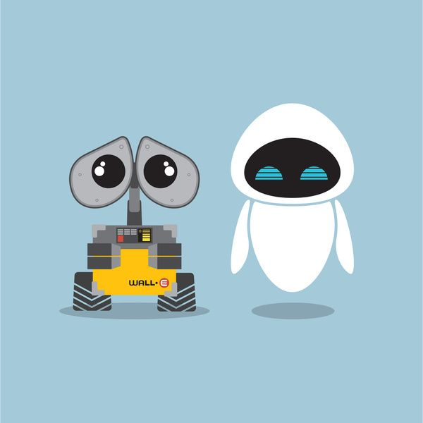 wall e and eve art print by steph dillon society6 all on wall e id=37949