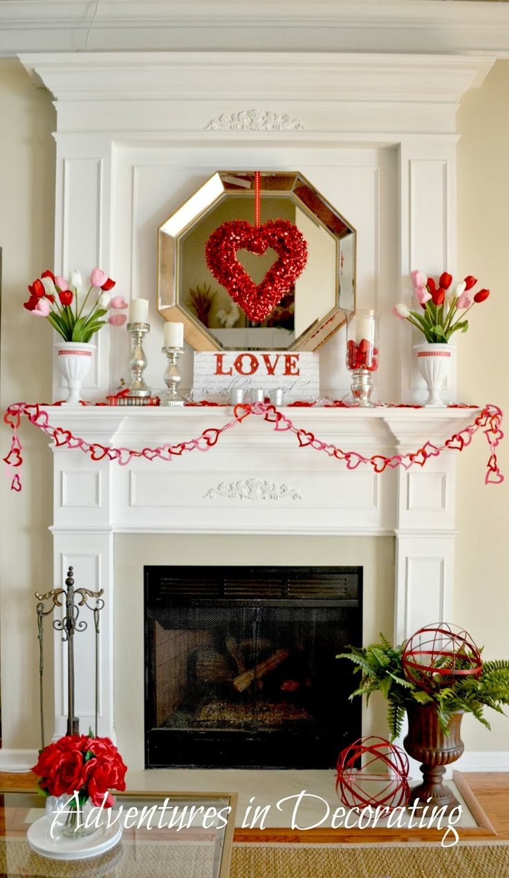 Adventures in Decorating: Our Valentine Mantel