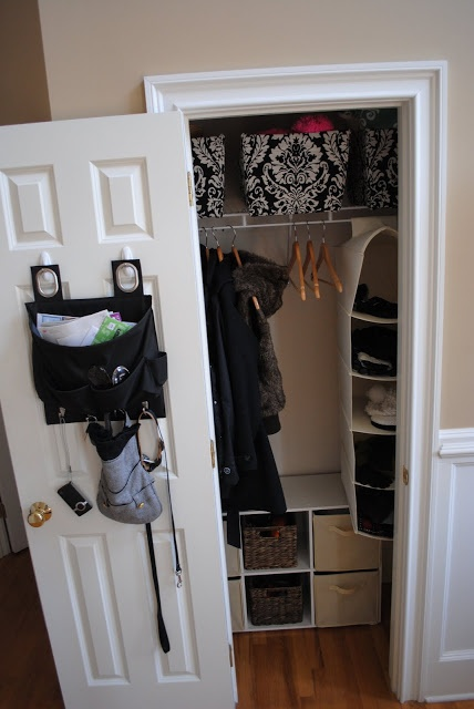 Small Entry Closet Makeover Organize Pinterest Power