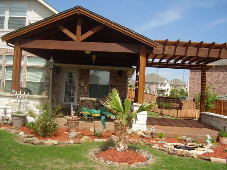 DIY Patio Cover with Pergola Extension   Landscaping ... on Backyard Patio Extension Ideas id=80879