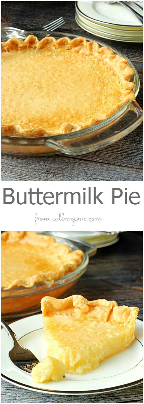 Buttermilk Pie is an old-fa