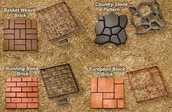 QUIKRETE® – Building Paths with the WalkMaker® has instructions and amounts of concrete needed