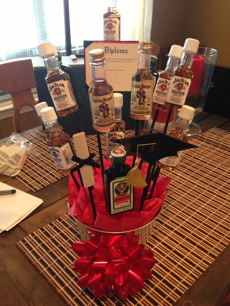 Alcohol Bouquet For A Guy Graduating College My Own