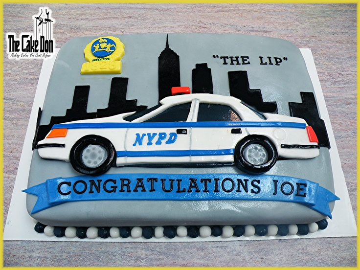 The Nypd Retirement Cake By The Cake Don My Cakes