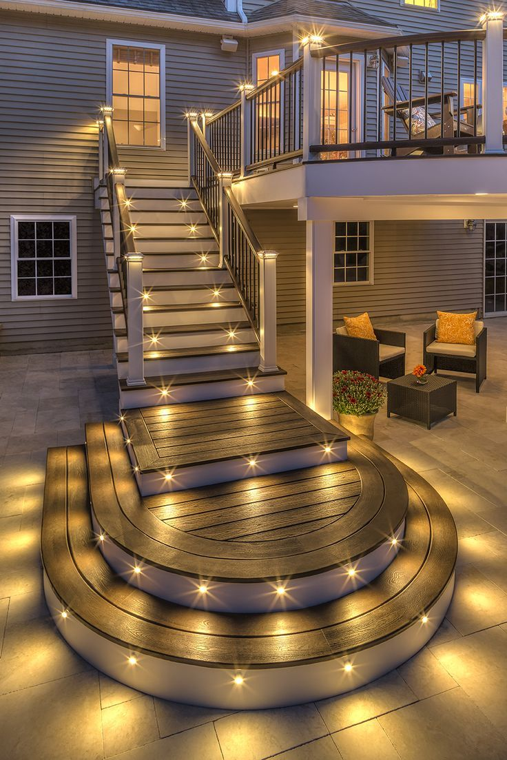10 best images about stairs on pinterest wrought iron on awesome deck patio outdoor lighting ideas that lighten up your space id=58408