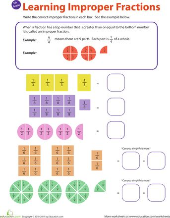 Fractions And Worksheets