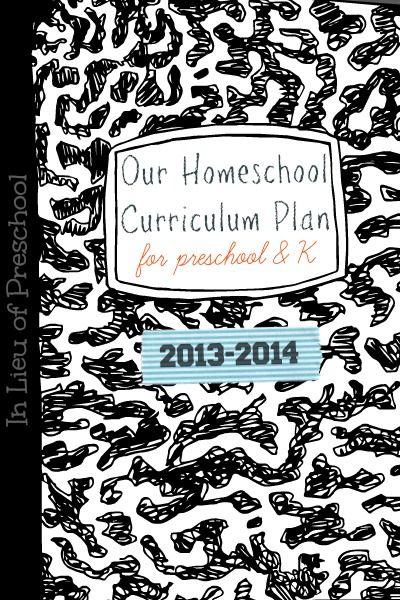 Preschool & Kindergarten Homeschool Curriculum Plan – In Lieu of Preschool