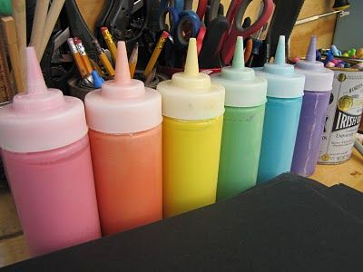 I'M NEVER BUYING PAINT AGAIN! Puffy Paint- 1 cup salt, 1 cup flour, 1 c wate