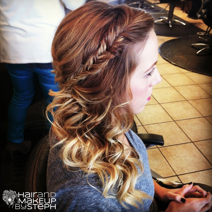 Hair And Make Up By Steph Updo Braid Half Up And