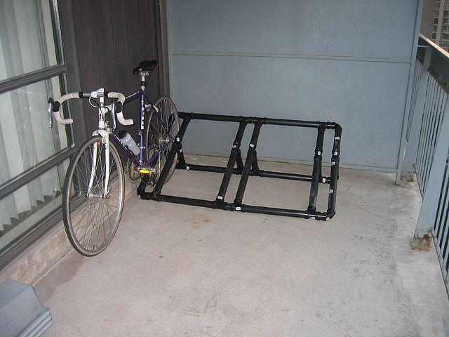 pvc pipe bike rack diy pvc pinterest bikes pvc on top new diy garage storage and organization ideas minimal budget garage make over id=13709