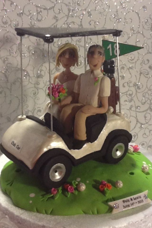 Golf Wedding Cake Topper Wedding Pinterest Golf