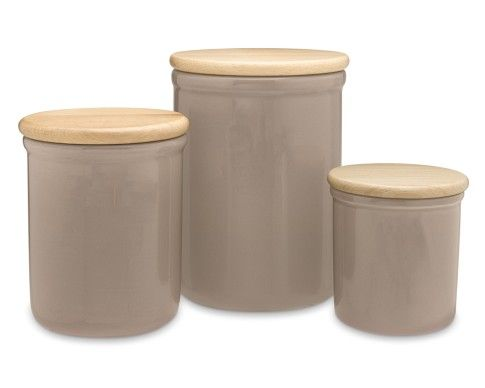 Emile Henry Canister Set In Taupe From Williams Sonoma