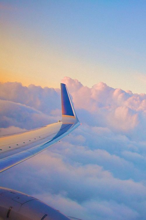 Plane Clouds Wing View Mobile Hd Wallpapers Pinterest
