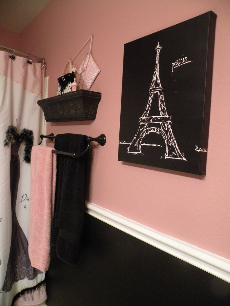 1000 Images About Paris Decor Bathroom Ideas On Pinterest Pink Bathrooms Paris Themed