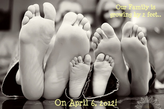 Our Family is growing by 2 feet on…. Baby / Pregnancy announcement.