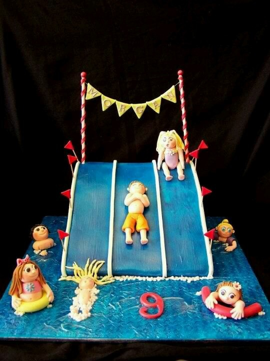 10 Best Images About Cakes Pool Amp Swimming Cakes On