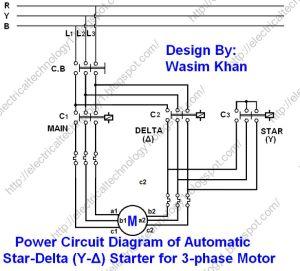 The StarDelta (YΔ) 3phase Motor Starting Method by