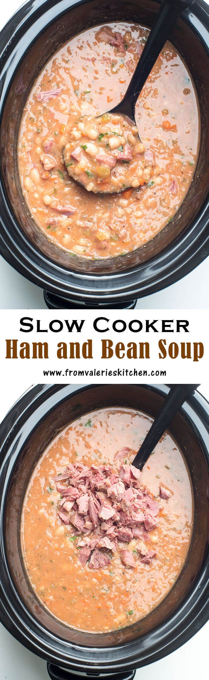 A great way to make use of the ham bone from your holiday ham. This Slow Cooker Ha