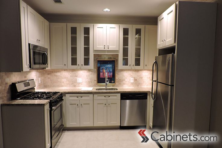 Simple Is Sometimes Best Our Deerfield Shaker II Maple Antique White Cabinets Are Beautiful In