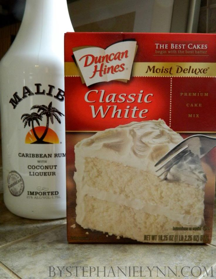 Malibu Cupcakes featuring Duncan Hines.Ingredients Needed for Cupcakes:   Duncan Hines Classic White Cake Mix  3 Large Eggs  1 1/3