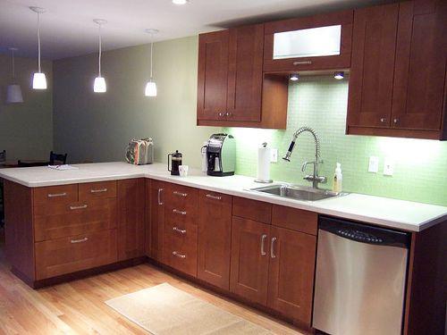 Adel Medium Brown W Light Countertops Amp Excellent Task Lighting Kitchen Pinterest Green