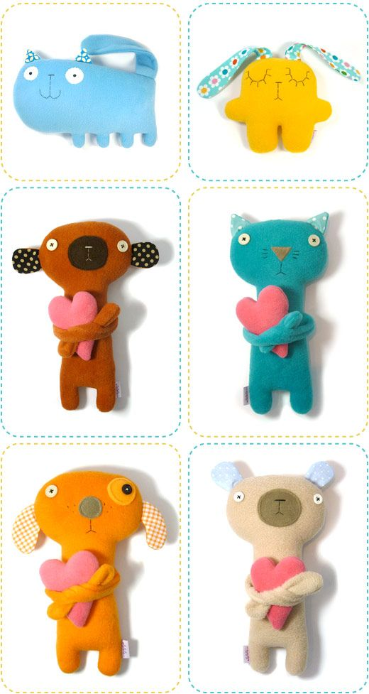 super ke každé hračce udělat dlouhé ruce a do nich něco pro ně typické (králík-mrkev, pes-kost, pták-červ, vosa-kytka,