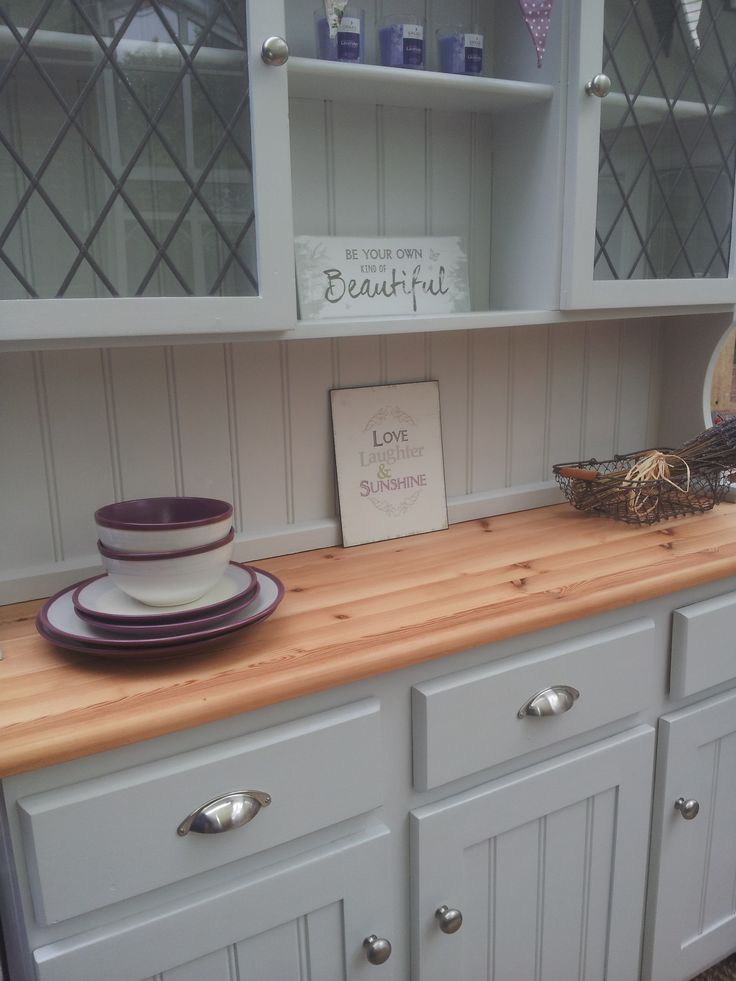 Painted Welsh Dresser Farrow And Ball Dimpse Re Loved By
