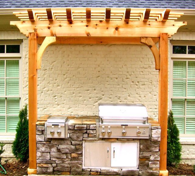 13 best images about Grill Area Pergola on Pinterest ... on Patio Grilling Area  id=80396